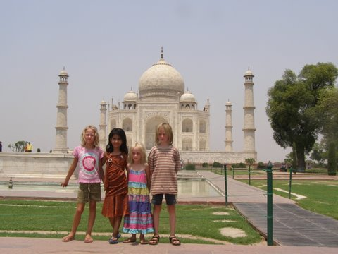 Taj Mahal and kids